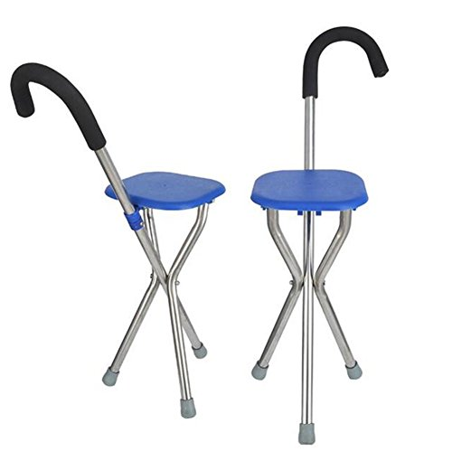 Frauen Für Quad-walking-stöcke (Dreibeinige Krücken Aluminium Legierung Cane Sitz Stöcke Stuhl Stühle für die Älteren Gehstock)