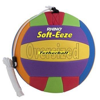 Champion Sports Rhino Soft-eeze Tetherball, RSTB10, Mehrfarbig, 10-Inch -