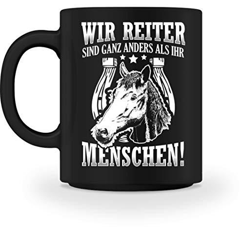 Chorchester Für Reiter Pferde Fohlen Und Pony Fans - Tasse -M-Schwarz -