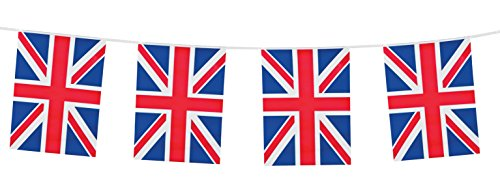 Boland B.V. NEU Wimpelkette Union Jack, 10 m (British Dekorationen Party)