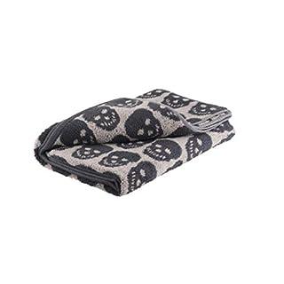 Axentia Skull Bath Towel Cotton Black/White 70 x 140 cm