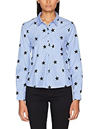 ONLY Damen Bluse Onlamy L/S Star Shirt Wvn