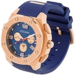 OTUMM Unisex Quartz Watch with Chronograph Quartz Silicone 09401