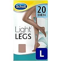 Scholl Medias de Compresión Ligera Mujer Light Legs 20DEN, Color Carne, L