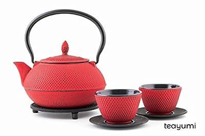 teayumi–Théière en fonte Arare Set 0,9l, rouge