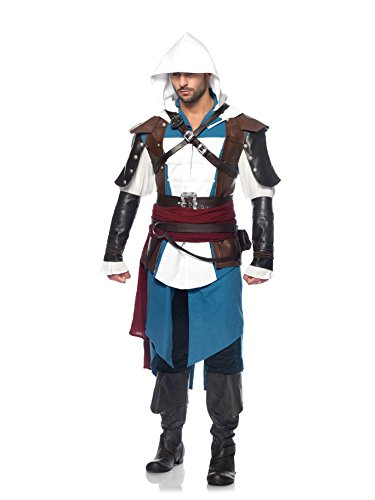 Preisvergleich Produktbild Assassin's Creed 9-Piece Edward Deluxe Men's Costume: XL
