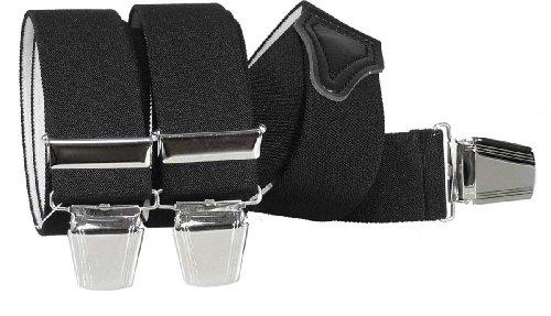 Hosenträger mit 3 extra starken Clips vielen uni Farben 2 Größen zur Wahl, Farben:schwarz, Größen:120 cm
