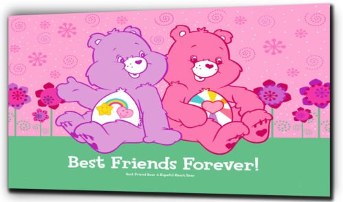 The Care Bears Best Friends Forever Leinwanddruck, schwarz / weiß, 20