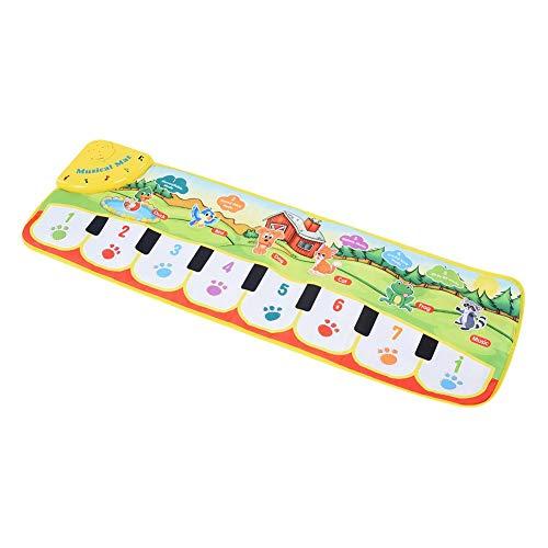 Alfombra de música para bebés, teclado de piano Estera musical Toque Manta...