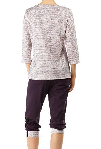 CALIDA - Pyjama corsaire femme Prune