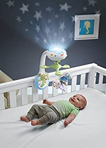 Fisher-Price CDN41 Butterfly Dreams 3-in-1 Projection Mobile, New-Born Baby Light Projector Cot Mobile, Suitable from Birth by Fisher-Price