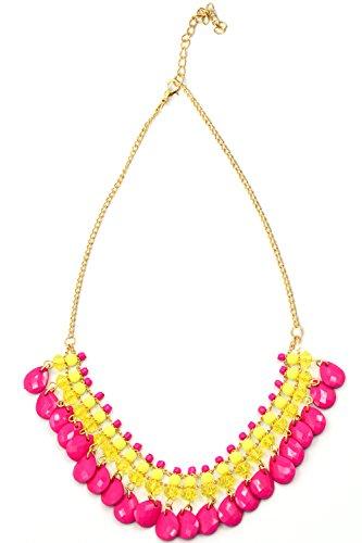 Böhmische Bib Blase Anweisung Halskette Charm Kette mit Tropfnase Design Halskette Anhänger Rose (Blase Anweisung Halskette)