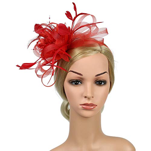 Sexy Kostüm Flapper Klassische - Likecrazy Klassisch Fascinators Hut Frauen Party Kostüm Accessoires Damen 1920s Stil Art Deco Flapper Haarband Great Gatsby Vintage Stirnband