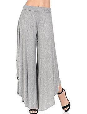 7e2aadc51c11 juqilu Donne Casuale Pantaloni Larghi Pantaloni Vintage Bootcut Pantaloni  Flare Pantaloni Gamba Larga Eleganti.
