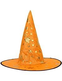 Sombrero infantil de mago / bruja, algodón mezcla, amarillo, talla única