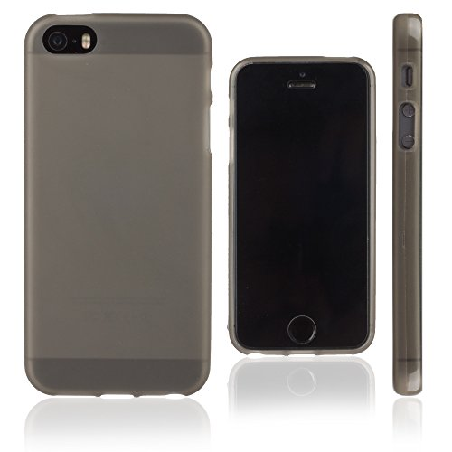 Xcessor Transition Farbe Flexible TPU Case Schutzhülle für Apple iPhone SE 5 5S. Mit Gradient Silk Gewinde Textur. Transparent / Grau Grau / Halb-transparent