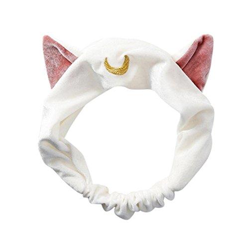 Haarband mit Katzenohren, als Party-Geschenk, Kopfschmuck, Make-up-Tools (weiß) (Conditioner Urlaub In Frizz)