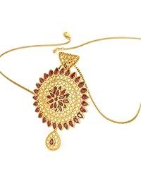 Joyalukkas Ratna Collections 22k (916) Yellow Gold and Ruby Pendant