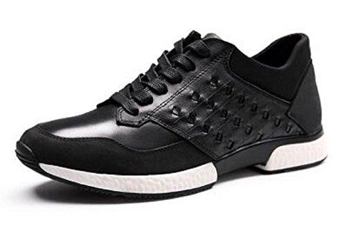top4man-zapatillas-de-running-de-charol-para-hombre-negro-negro-43-eu-color-negro-talla-42-eu