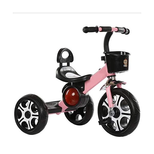 TX 3-6 Years Old Baby Tricycle Children Boys Girls 3 Increase Sized PU Wheel Toddler Musical Pedal Bicycle,Pink TX Widened to increase seat, the baby sitting more comfortable. Non-slip grip, making use of rubber, non-toxic, direct touch. Designed to increase pedal, increase the wheel design. 1