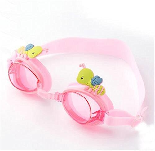KOMNY männer, Frauen, Kinder mit schutzbrille, hd - wasserdicht und Anti - Fog - Frame, weiche Flache licht Schwimmen Brille, Cartoon Kinder Schwimmen Brillen, weich und gemütlich,rosa?
