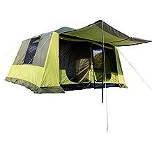 Outsunny Tienda de Campaña Familiar 4-8 Personas Carpa Grande Acampada Tipo Refugio para Playa