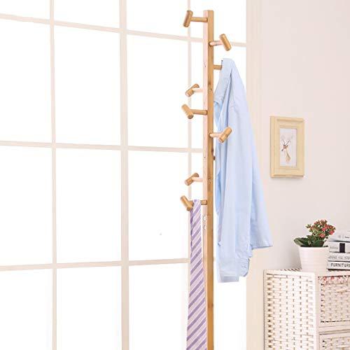 KISlink Kleiderständer Boden Massivholz Kleiderbügel Einfache Kleiderbügel Schlafzimmer Kleiderständer Mode Kleiderständer