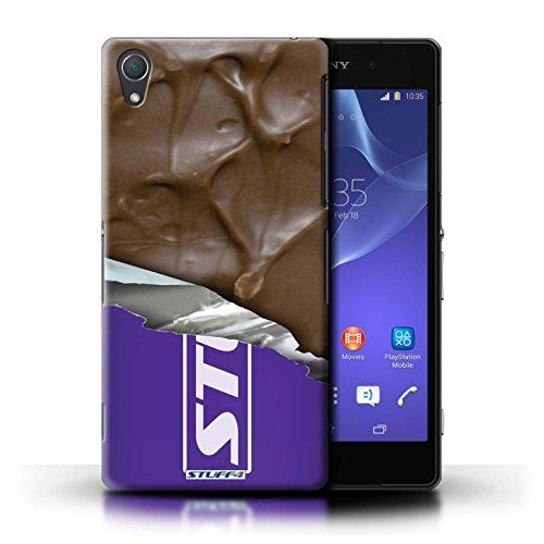Kobalt® Imprimé Etui / Coque pour Sony Xperia Z2 / Flake/Flocon Enveloppé conception / Série Chocolat Mars Bar Enveloppé