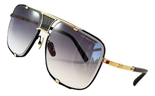 Dita Mach Five Sonnenbrille Gold & Schwarz Rahmen mit Grau Gradient Lens