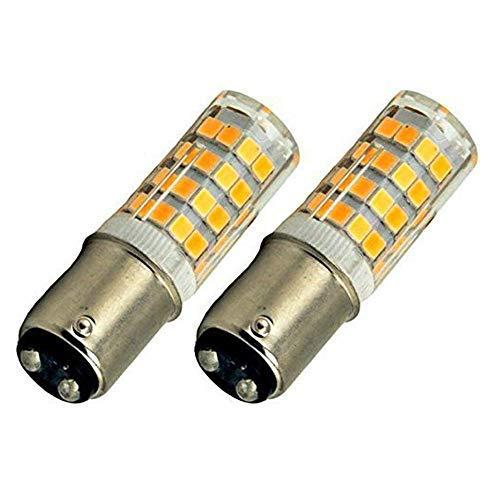 Bonlux 2-Packs 220V 4W Ba15d LED-Glühlampe Kühlweiß 6000K 35W Halogen-Equivalent SBC Kleine Bajonett LED-Birnen für Nähmaschine/Appliance-Lampen
