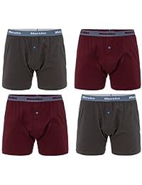 MioRalini 4 Herren Boxershort mit extra weitem Bein!! 100% Baumwolle normale Grössen und Übergrosse Männer Boxershorts Boxer