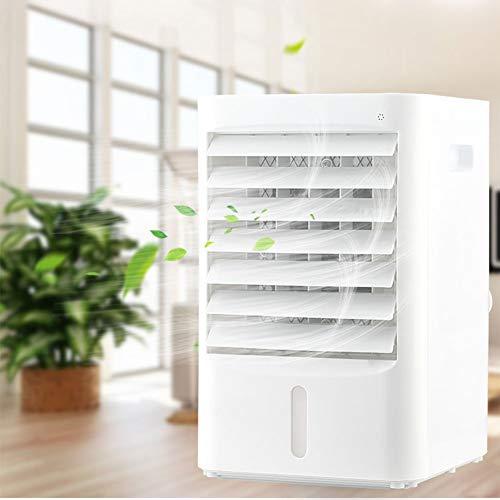 Fbestfan Mobil Klimagerät Air Cooler 3 in 1 Luftbefeuchter Luftreiniger Raumluftkühler mit USB Anschluß 3 Leistungsstufen Tragbare Klimaanlage für Büro Garage und Haus