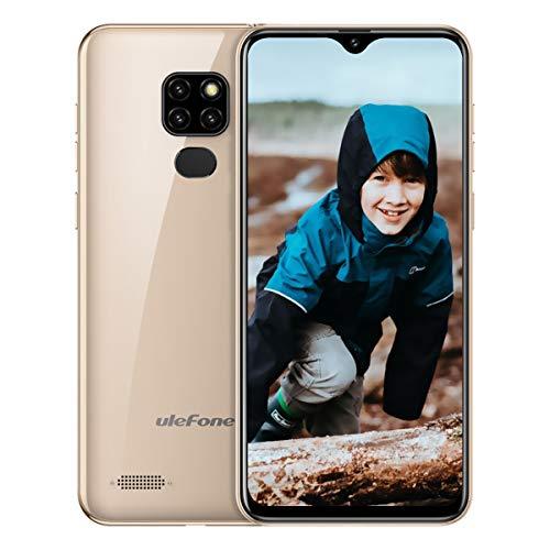 Ulefone Note 7 (2019) Handy ohne Vertrag DREI Kameras DREI Kartensteckplatz, 6,1 Zoll 16 GB Speicher, Dual SIM Android Smartphone Günstig, Face Unlock, 3500mAh - Gold (Global Version) - 7 Handy