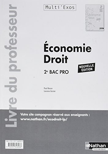 Economie droit 2de bac pro (multi'exos) : Livre du professeur