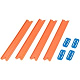Hot Wheels Track Builder, Pack de 4 pistas rectas, accesorios para pistas de coches