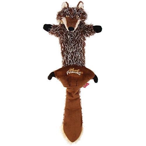 GiGwi 6247 Robustes Hundespielzeug Plush Friendz Wolf ohne Füllung, mit doppelter Gewebelage und 2 nachfüllbaren Quietscher, aus Plüsch