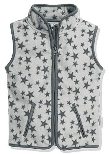 Playshoes Baby-Mädchen Weste Fleeceweste Allover Sterne, Oeko-Tex Standard 103, grau, 92 Polyester-fleece-weste