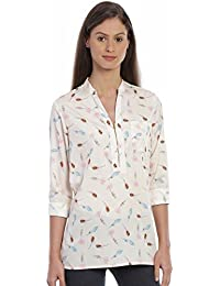 Bombay High Women's Printed Full Sleeves Comfort Fit Casual Top