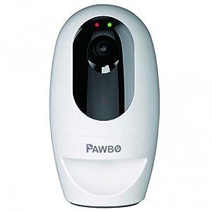 Pawbo 8314 Caméra Wifi & Audio Pour Communiquer, Surveiller, Jouer Avec Votre Chien ou Votre Chat Depuis un Smartphone. Distributeur de Friandises Sons, Jeux de Poursuite Interactifs