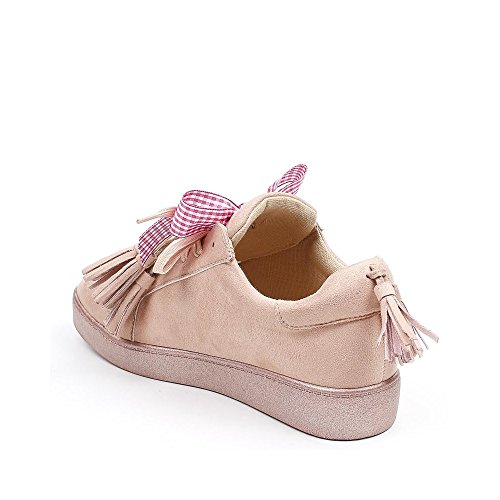 Ideal Shoes, Damen Sneaker Rose