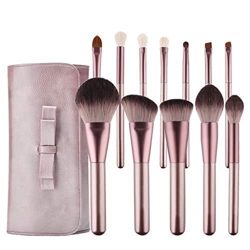Soies de fibres douces 12 pièces Set de pinceau de maquillage Ensemble complet d'outils de beauté pour débutants Trousse de fard à paupières teintée Envoyer le sac de maquillage