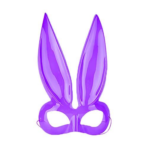 Kostüm Übergröße Bunny - Lazzboy Damen Kaninchen Maske Kostüm Accessoire Maskerade Halloween-Maske Für Cosplay/Halloween/Party/kostüm/Bunny-Ohren(C)