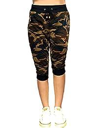 Devil Women's|Girl's Army Comfort Capri Camouflage