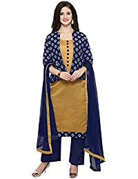 Inddus Mustard Yellow Woven Stylised Salwar Suit With Dupatta & Navy Blue Woven Jacket (fully Stitched)
