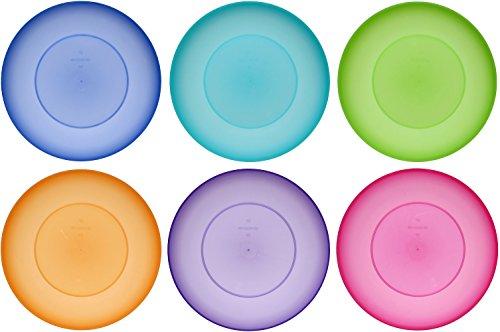 idea-station NEO Kunststoff-Teller 17 cm, 6 Stück, farbig, bunt, rund, stapelbar, perfekt für als als Kuchen-Teller, Snack-Teller einsetzbar, perfekt für Vorspeisen, Hauptspeisen, Nachspeisen geeignet, spülmaschinenfest