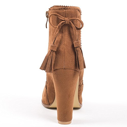 Ideal Shoes, Damen Stiefel & Stiefeletten Camel