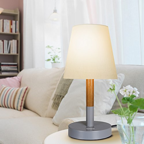 Tomons lampada da comodino/Paralume in tela Lampada da tavolo ...