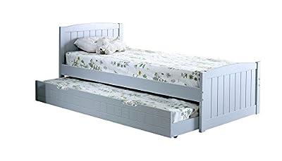 Happy Beds Denver Guest Bed 3ft Wooden Trundle Modern Bedroom Furniture