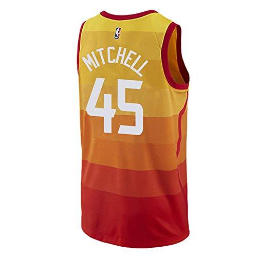 LAFE NBA Trikot Herren Jazz 'neue Saison-City-Version des Mitchell 45-Trikots Team benutzerdefinierte Heißdruck Basketball Uniform Weste Sommer atmungsaktives Sweatshirt Shirt