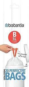 Brabantia Bin Liners, Size B, 5 L - 20 Bags